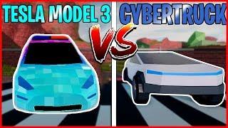 Tesla Model 3 VS CyberTruck - Roblox Jailbreak qartulad