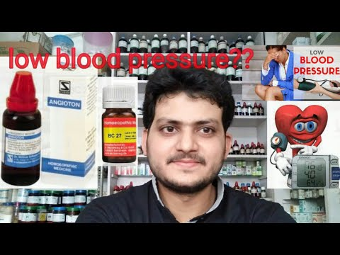 Low blood pressure! Homeopathic medicine for low blood pressure?? explain!