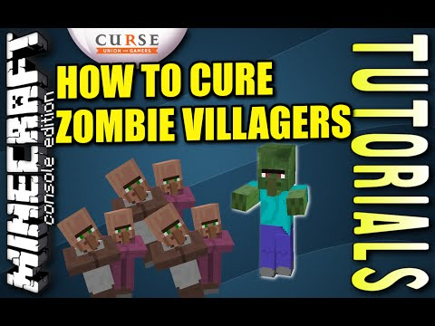 MINECRAFT - PS3 - HOW TO CURE ZOMBIE VILLAGERS - TUTORIAL ( PS4 / XBOX /PC / PE )  -