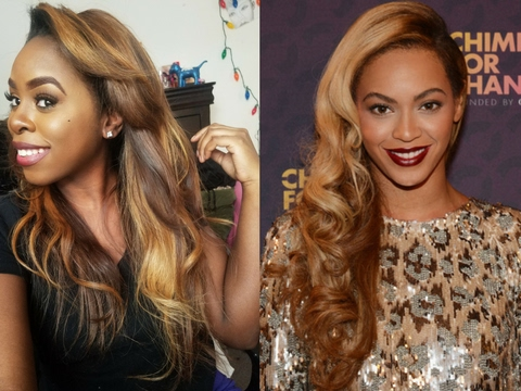 How to dye your hair like Beyoncé| blonde highlights Tutorial
