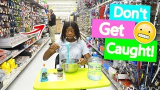 Making Slime At Walmart...We Got Caught!!!