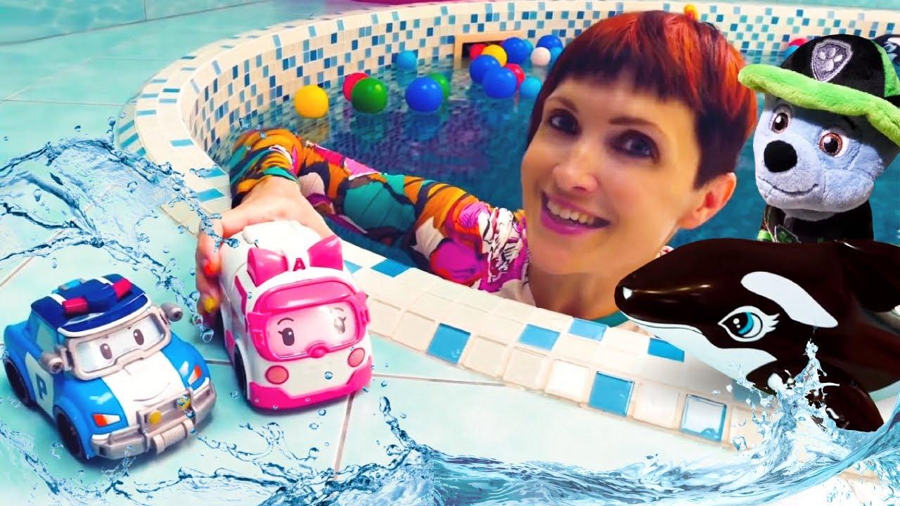 Маша Капуки и игрушки в бассейне - Щенячий патруль в песочнице. Сборник для детей