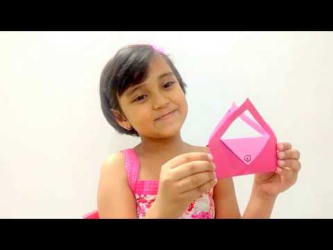 Origami Purse - How to make Origami Purse step by step for kids Art and Craft projects