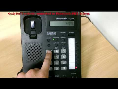 How to set Call forwarding on Panasonic digital/IP handset?