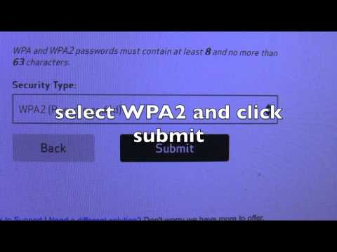 Change Verizon fios wireless encryption from WEP to WPA2 the easy way