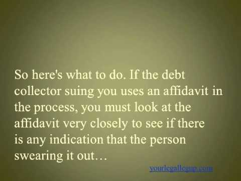 Counterclaim when Sued for Debt! Was There an Affidavit Attached? You Can Counterclaim