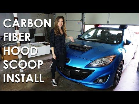 CORKSPORT CARBON FIBER HOOD SCOOP INSTALL
