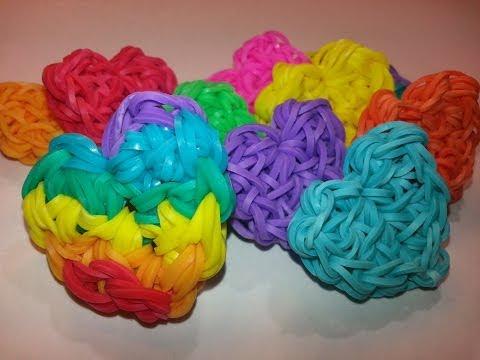 Lovely Heart Charm Tutorial by feelinspiffy (Rainbow Loom)
