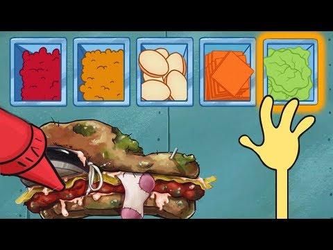 Spongebob's Game Frenzy - Making Crazy Spongebob Sandwich - Nickelodeon Kids Games