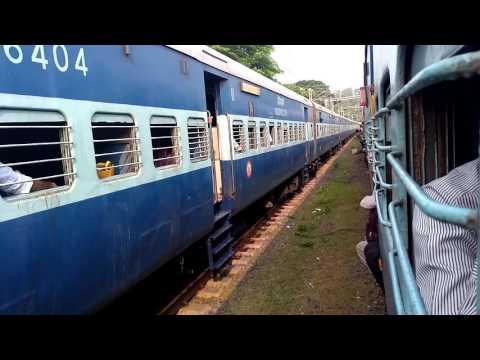 Chengalpet Junction - Trains departing parallel - Pondicherry Express Vs Arakkonam Passenger..