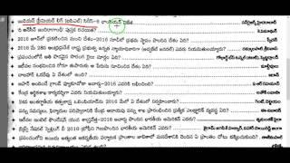 current affairs telugu 2016-2017 || March 21st 2017