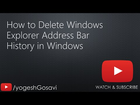 [Tutorial] How to Delete Windows Explorer Address Bar History in Windows [Windows]