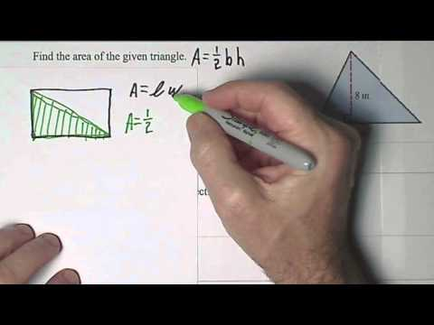Finding Area of Rectangle Parallelogram and Triangle.wmv