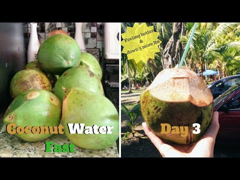 Coconut Water Fast Day 3   down 3 lbs!