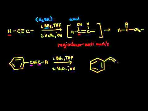 Hydroboration-oxidation of alkynes | Alkenes and Alkynes | Organic chemistry | Khan Academy