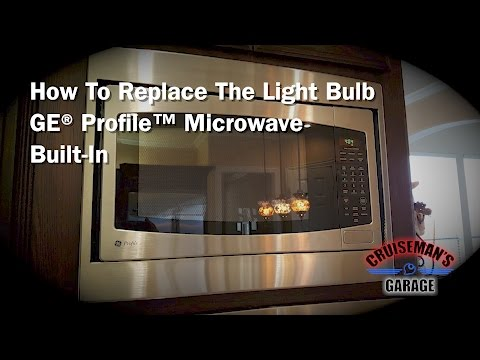 Replace Bulb in GE Profile Microwave (Built-In)