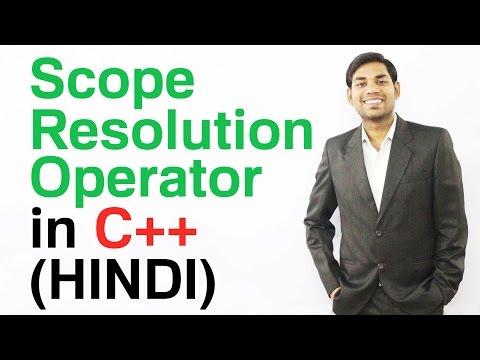 Scope Resolution Operator in C++ (HINDI)