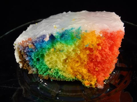 Rainbow Cake Made in a Slow Cooker- with yoyomax12