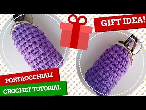 TutorialXMAS #3 | Portaocchiali uncinetto | Glasses case crochet | Katy Handmade