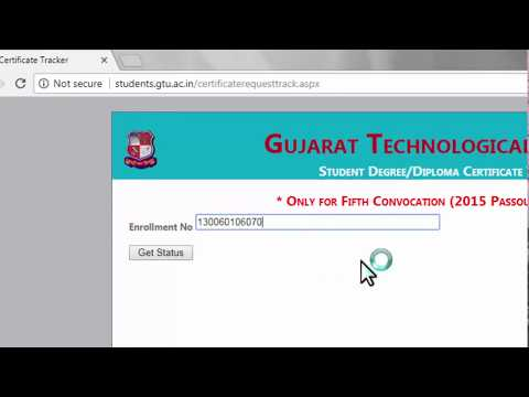 How to check if GTU received your convocation documents