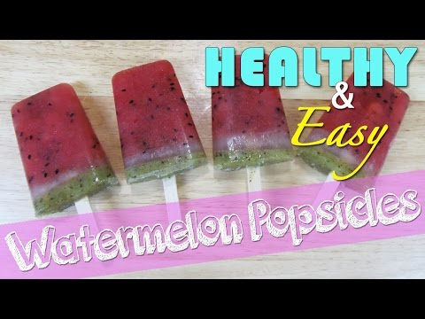 How to Make Healthy Watermelon Popsicles - easy to make watermelon popsicles / ice pops recipe