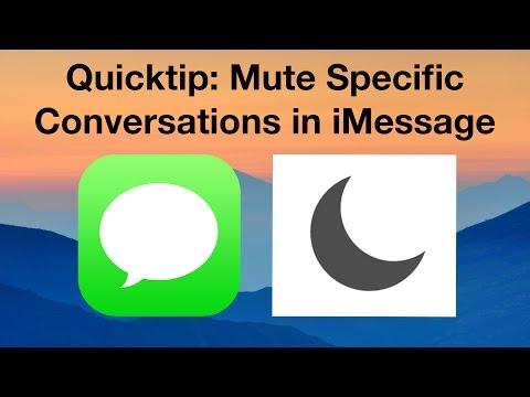 [4K] Quicktip: Mute Specific Conversations in iMessage