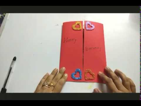 3 easy step birthday greeting card |  idea of making birthday card