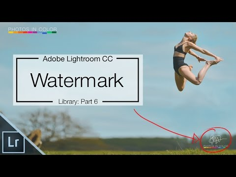 Lightroom 6 Tutorial - How To Create Signature Watermark In Lightroom CC