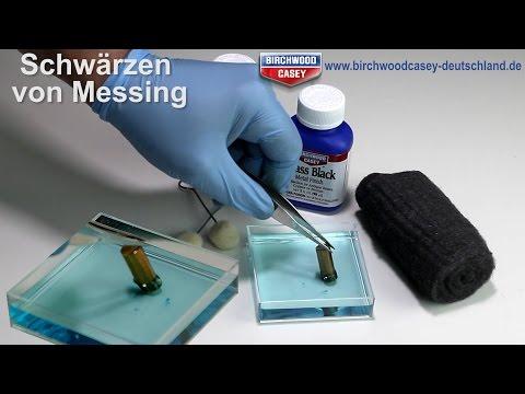 Messing Schwärzen - selber brünieren - Brass Black Brünierung