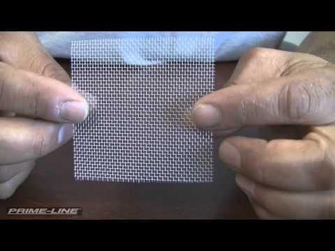 Repairing holes in your window or door screen.