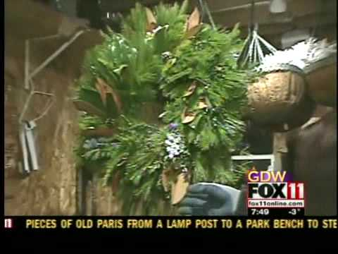Fresh, holiday wreath-making