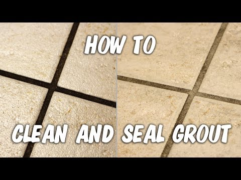 Kitchen grout cleaning and sealing