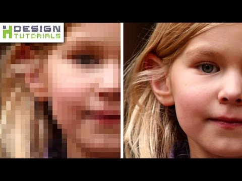 how to depixelate images in photoshop