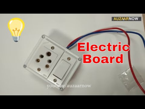 Electric Board Wiring Connection 1 socket 1 switch single Board