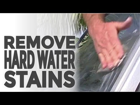 Learn How to Remove Hard Water Stains from Glass on a Boat or Home