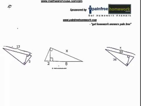 Right Similar Triangles - Solving For Side Lengths