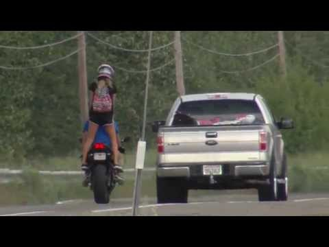 stupid motorcycle chick
