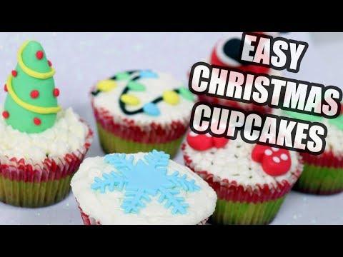 How To Make Easy Christmas Cupcakes! Christmas cake decorating