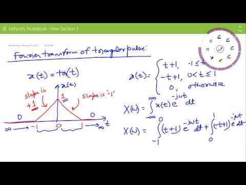 Lecture on Fourier Transform of Triangular Pulse