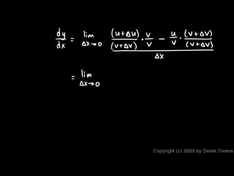 Calculus 3.07i - The Quotient Rule