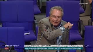 Bundestag: Bundesarbeitsminister Hubertus Heil zu den Arbeitsbedingungen in der Fleischindustrie