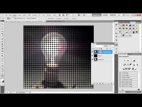 How to turn your photo to colored dot pattern in photoshop