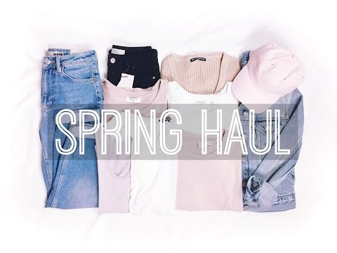 Spring TRY ON Haul // Brandy Melville, TopShop & Aritzia