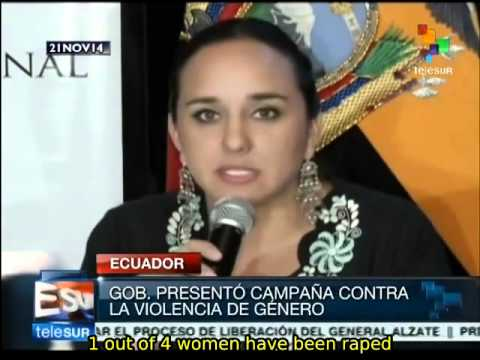 Ecuador launches national campaign against gender-based violence
