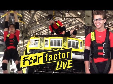 Taylor Competes in Fear Factor Live at Universal Studios Florida
