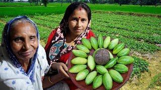 POTOL MALAIKARI !!! Farm Fresh Pointed Gourd Malai Recipe in Village Style Cooking by Grandmother