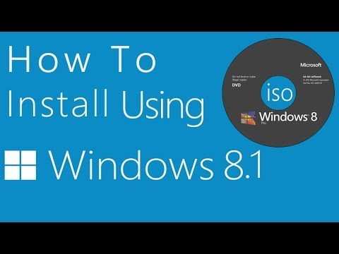 How to Install Windows 8 or 8.1 Using DVD