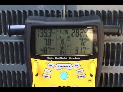 Goodman 18 SEER Heat Pump Charging
