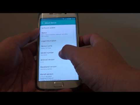 Samsung Galaxy S6 Edge: How to Find Model Number