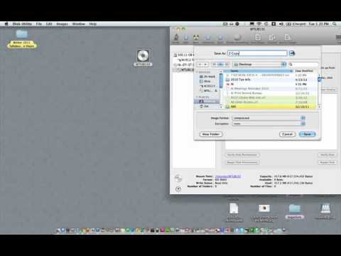 Burn a CD or DVD using Disk Utility on a Mac
